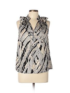 Cynthia Rowley TJX Sleeveless Silk Top Size L