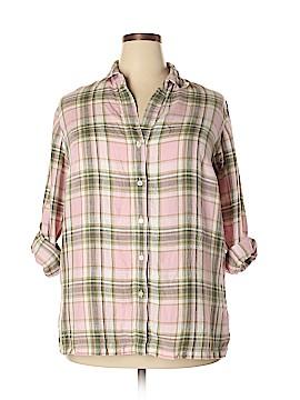 Jones New York Sport Long Sleeve Button-Down Shirt Size 1X (Plus)