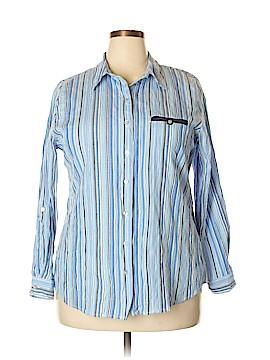 Allison Daley Long Sleeve Button-Down Shirt Size 18 (Plus)