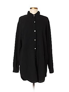 Soft Surroundings Long Sleeve Button-Down Shirt Size M (Tall)