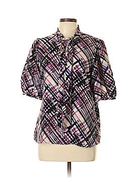 MICHAEL Michael Kors Short Sleeve Silk Top Size 10