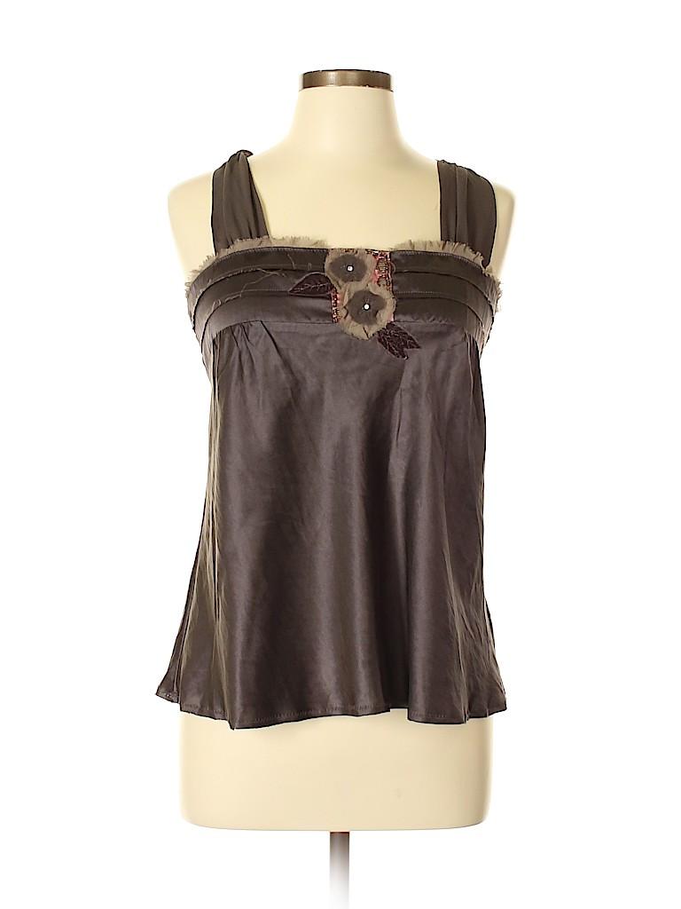 Lux Women Sleeveless Silk Top Size 11