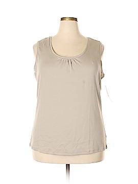 Preswick & Moore Sleeveless T-Shirt Size 2X (Plus)