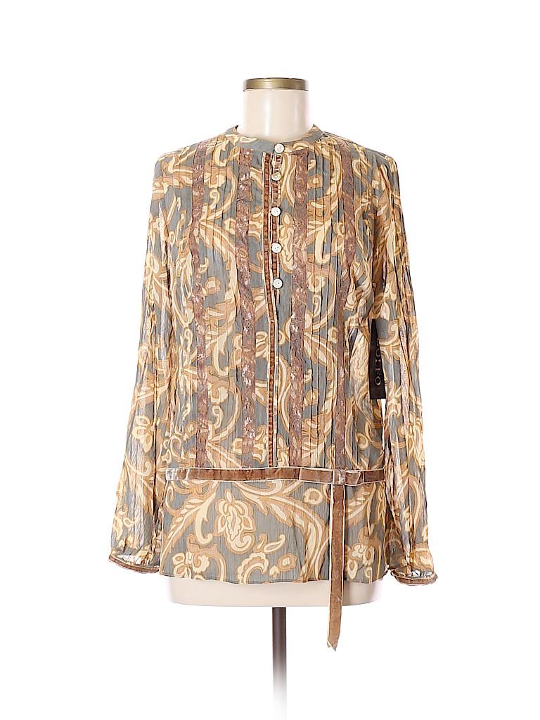 Adolfo Women Long Sleeve Blouse Size M