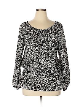 MICHAEL Michael Kors 3/4 Sleeve Silk Top Size 1X (Plus)