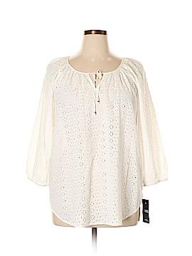 Chaps 3/4 Sleeve Blouse Size XL