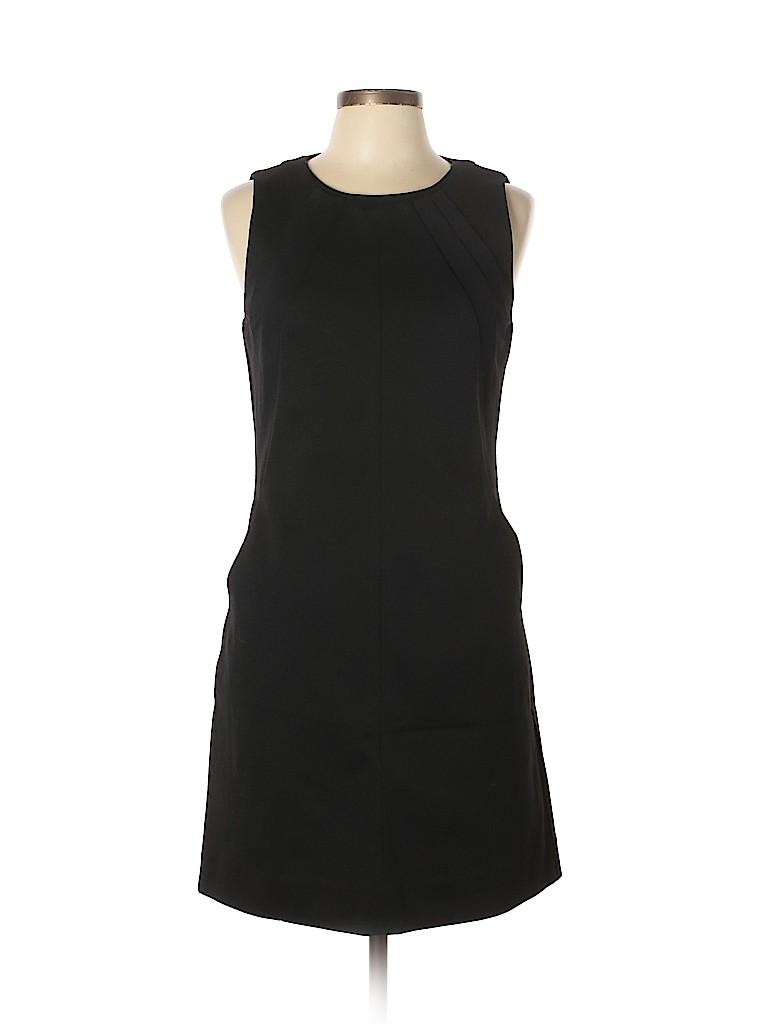 cda8b67e201 Diane von Furstenberg 100% Polyamide Solid Black Casual Dress Size ...