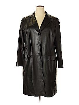 Lafayette 148 New York Leather Jacket Size 18 (Plus)