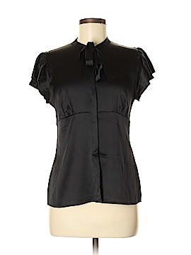 Ralph Lauren Black Label Short Sleeve Silk Top Size 8