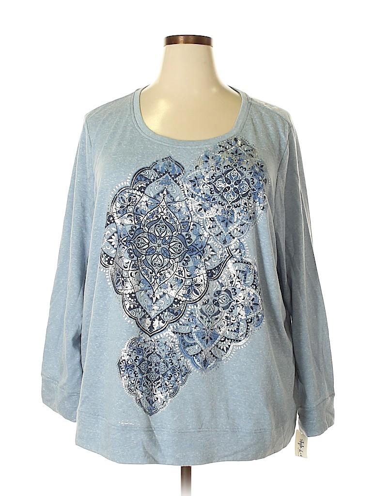 Style&Co Women Sweatshirt Size 2X (Plus)