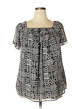 Zac & Rachel Short Sleeve Blouse Size 2X (Plus)