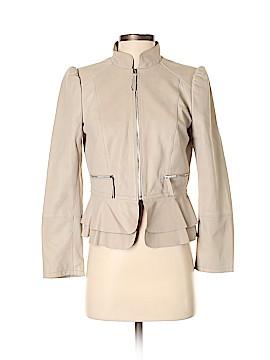 White House Black Market Leather Jacket Size S (Petite)