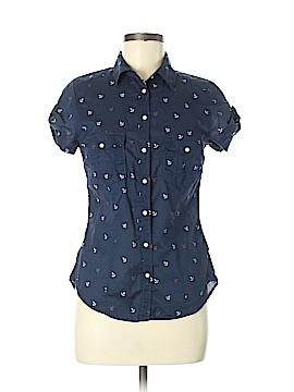 H&M L.O.G.G. Short Sleeve Button-Down Shirt Size 6