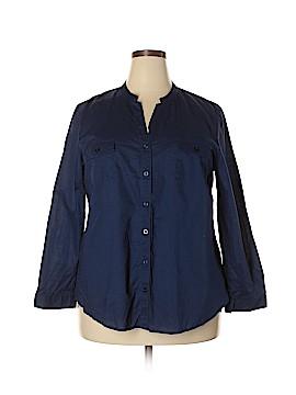 Laura Scott Long Sleeve Button-Down Shirt Size 1X (Plus)