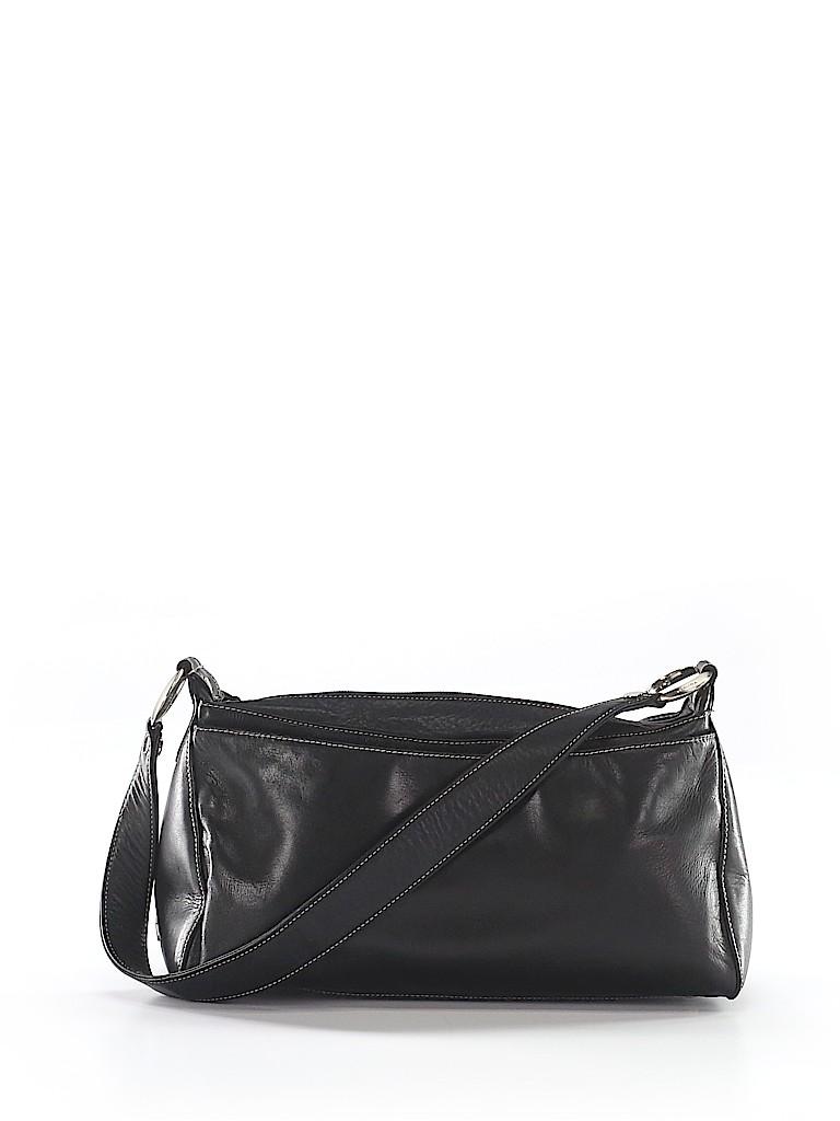 e792d55b22 Perlina 100% Leather Solid Black Leather Shoulder Bag One Size - 72 ...
