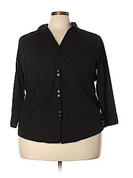 DressBarn Long Sleeve Button-Down Shirt Size 22 - 24 (Plus)