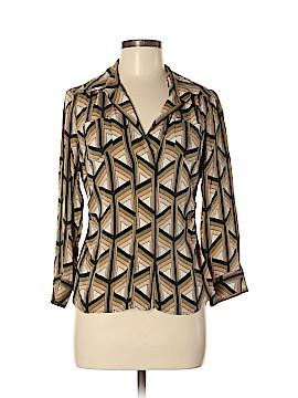 Diane von Furstenberg Long Sleeve Silk Top Size 10