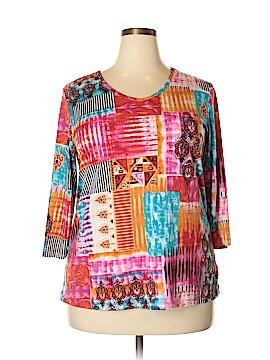 Susan Graver 3/4 Sleeve Top Size XL