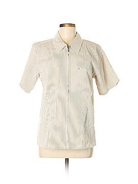 Denim & Co Short Sleeve Blouse Size M