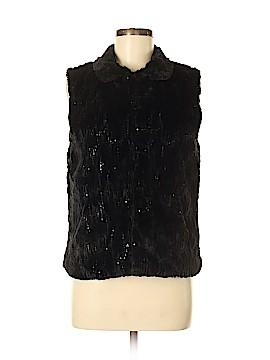 Betsey Johnson Faux Fur Vest Size M