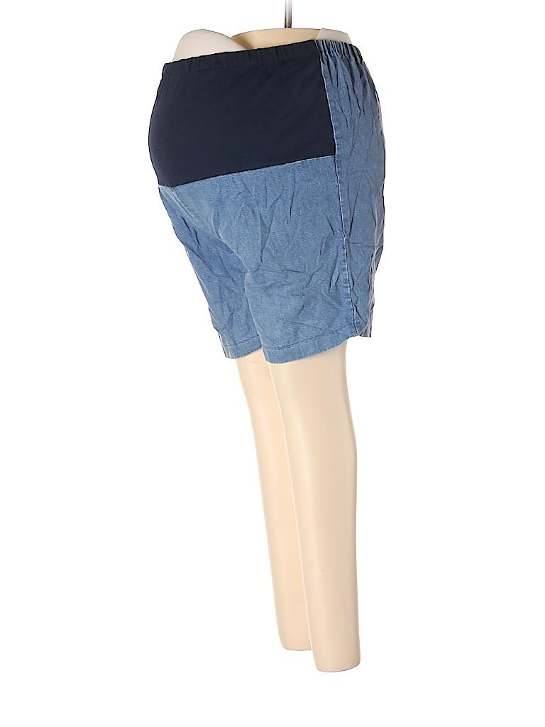 Announcements Maternity Women Denim Shorts Size 12 (Maternity)