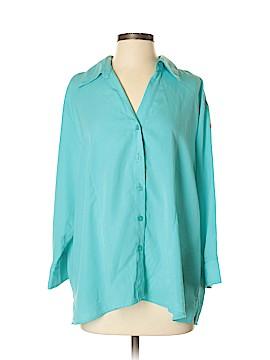 Joanna Plus 3/4 Sleeve Button-Down Shirt Size 2X (Plus)