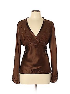 Allison Taylor Long Sleeve Silk Top Size XL