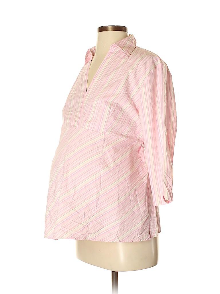 Duo Maternity Women 3/4 Sleeve Blouse Size M (Maternity)