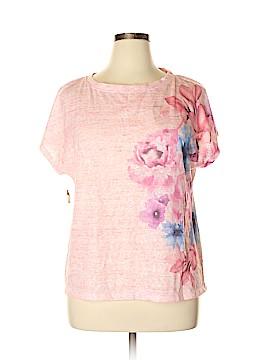Nicole Miller New York Short Sleeve Blouse Size XL