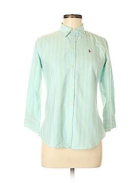 Ralph Lauren 3/4 Sleeve Button-Down Shirt Size 6