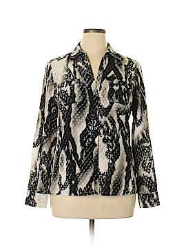 Jones New York Collection Long Sleeve Button-Down Shirt Size 12