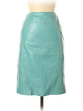 Lafayette 148 New York Leather Skirt Size 8