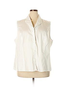 Jones New York Collection Sleeveless Button-Down Shirt Size 24 (Plus)