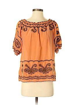 Sundance Short Sleeve Silk Top Size S