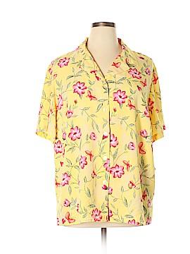 Sag Harbor Short Sleeve Button-Down Shirt Size 22 (Plus)