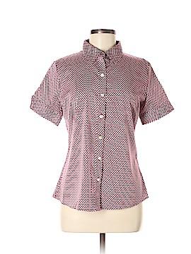 Banana Republic Factory Store Short Sleeve Button-Down Shirt Size 8
