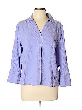 Coldwater Creek Long Sleeve Button-Down Shirt Size XL (Petite)