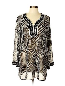 Adrienne Vittadini Long Sleeve Blouse Size L