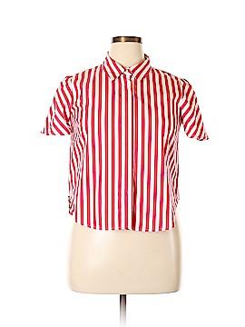 Forever 21 Short Sleeve Button-Down Shirt Size XL