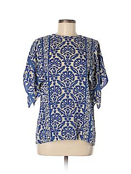 Andrew Gn Short Sleeve Silk Top Size 38 (EU)