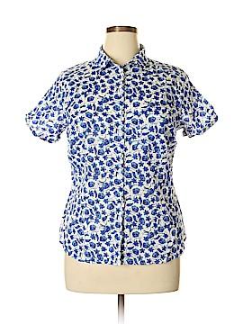 H&M L.O.G.G. Short Sleeve Button-Down Shirt Size 16