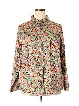 Talbots Long Sleeve Button-Down Shirt Size 22 (Plus)