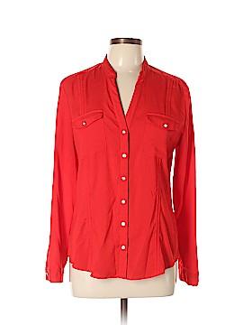 7th Avenue Design Studio New York & Company Long Sleeve Blouse Size L