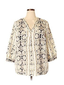 Violet & Claire 3/4 Sleeve Blouse Size 2X (Plus)