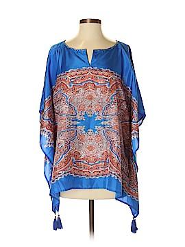 Marrakech Short Sleeve Silk Top Size S