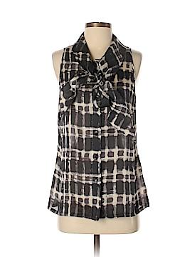Lela Rose Sleeveless Silk Top Size 8