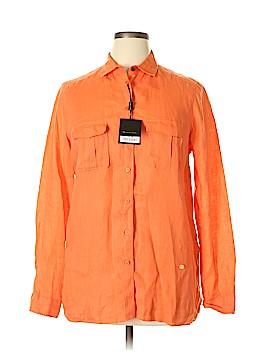 Massimo Dutti Long Sleeve Button-Down Shirt Size 14