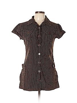 Vanity Short Sleeve Button-Down Shirt Size L