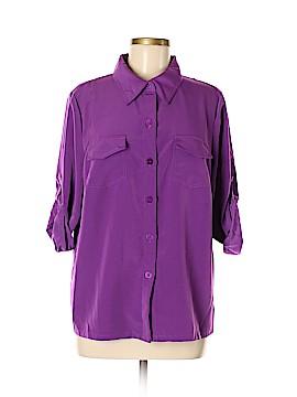 Susan Graver Short Sleeve Blouse Size M