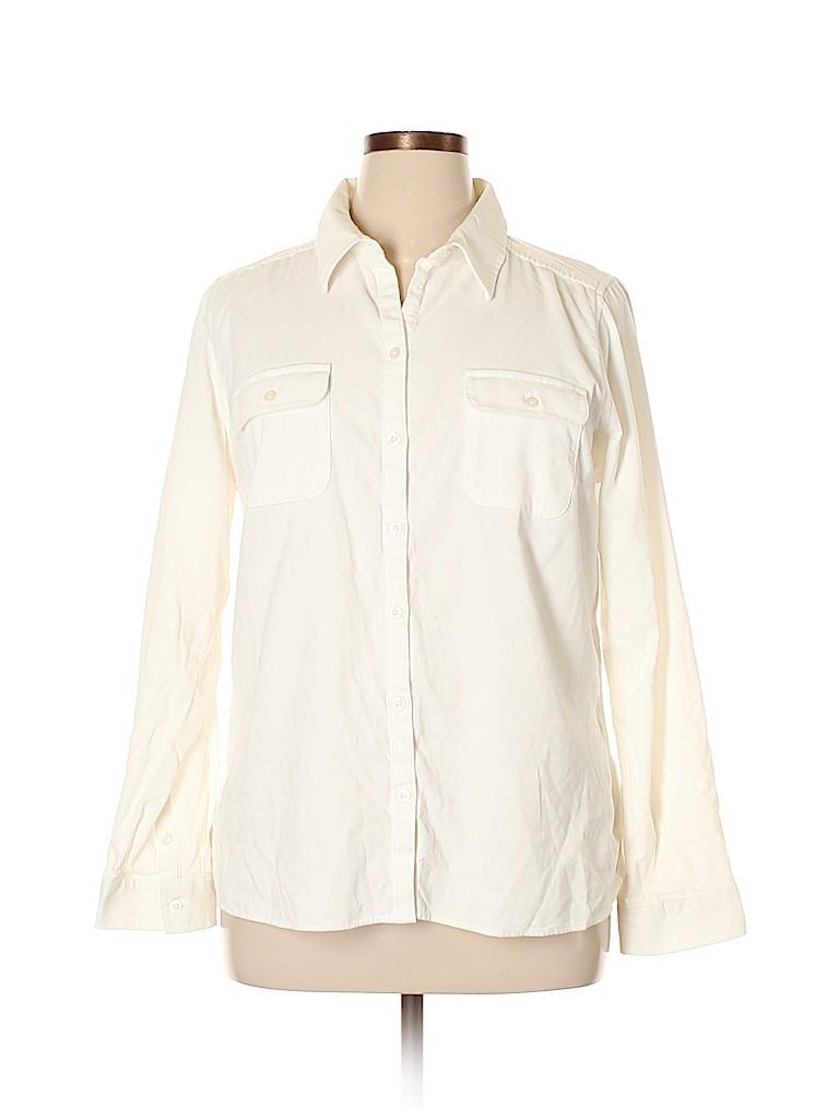 Croft & Barrow Women Long Sleeve Button-Down Shirt Size XL